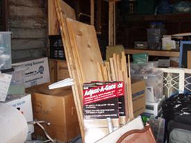 Before: Anne's garage